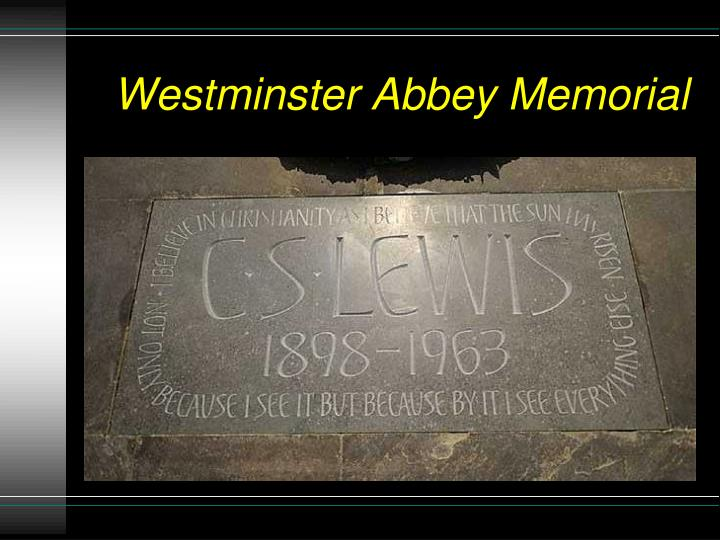 Westminster abbey memorial