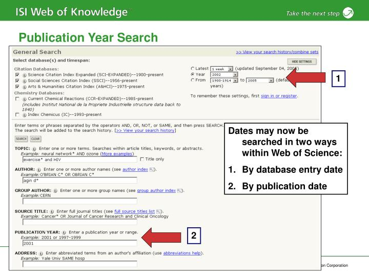 Publication Year Search