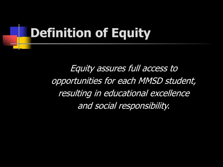 Definition of Equity