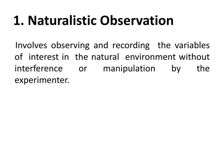 1. Naturalistic Observation