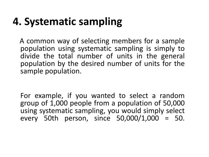 4. Systematic sampling