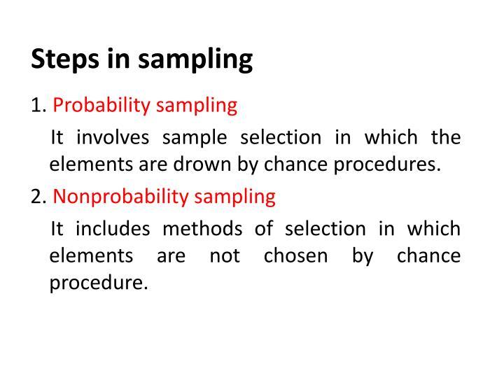 Steps in sampling