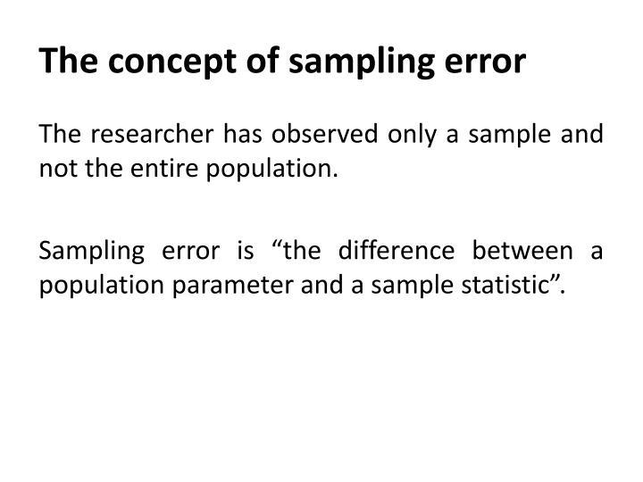 The concept of sampling error