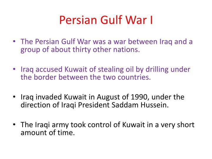 Persian Gulf War I