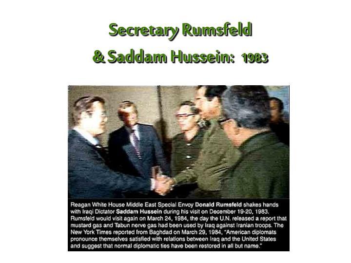 Secretary Rumsfeld