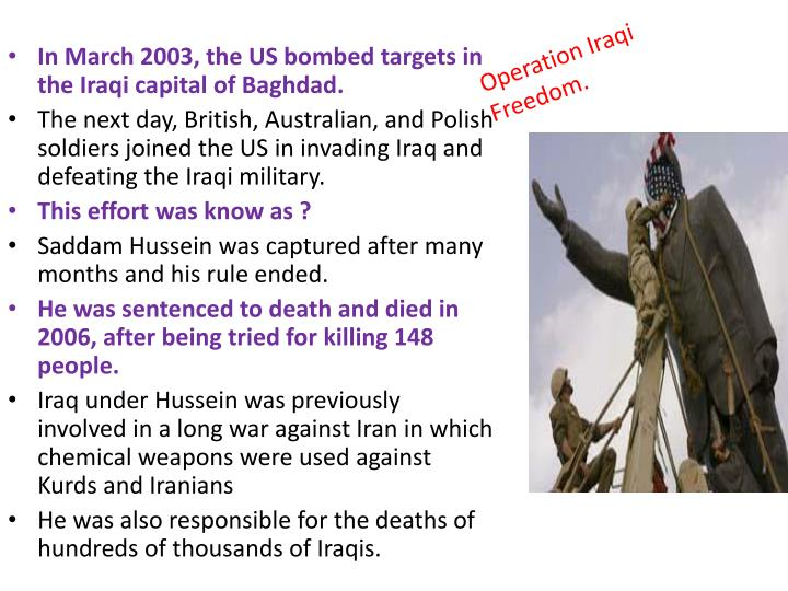 Operation Iraqi Freedom.