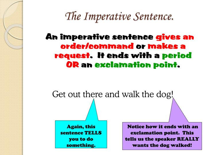 The Imperative Sentence.