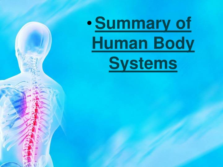 Summary of Human Body Systems