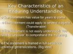 key characteristics of an enduring understanding