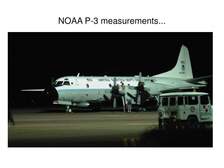 NOAA P-3 measurements...