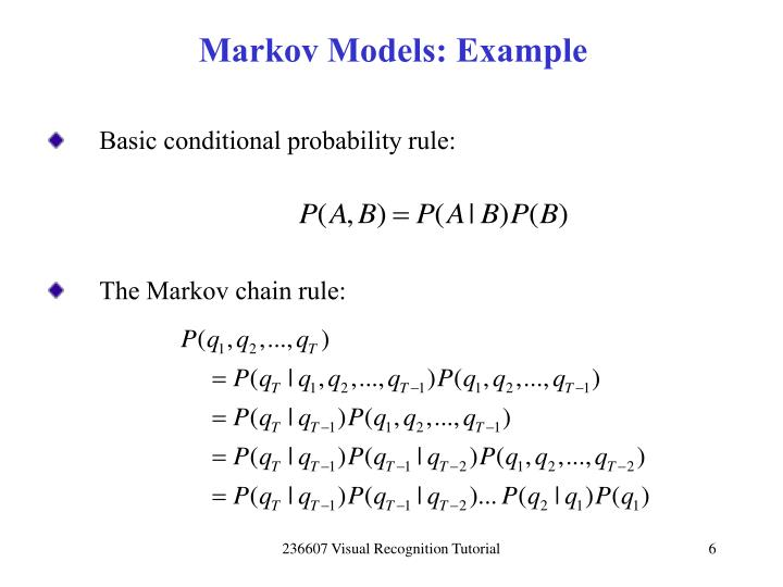 Markov Models: Example