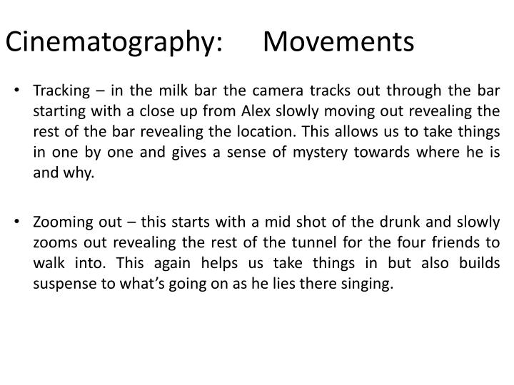Cinematography:Movements