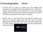cinematography shots
