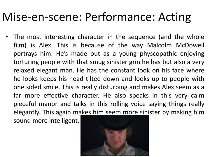 Mise-en-scene: Performance: Acting