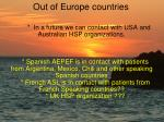 out of europe countries
