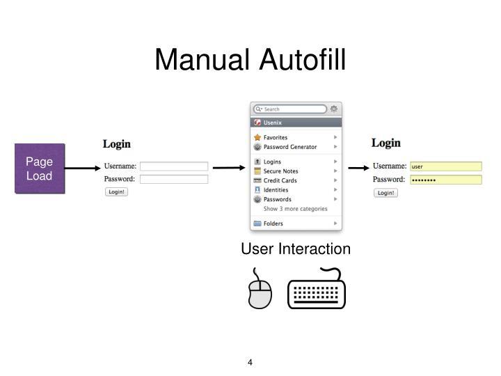 Manual Autofill