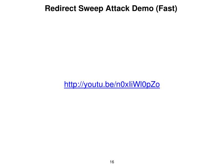 Redirect Sweep Attack Demo (Fast)