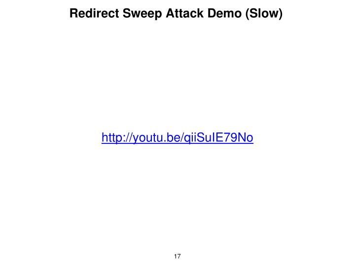 Redirect Sweep Attack Demo (Slow)