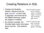 creating relations in sql