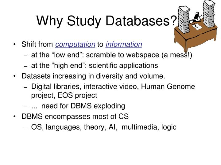 Why Study Databases??