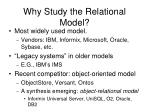 why study the relational model