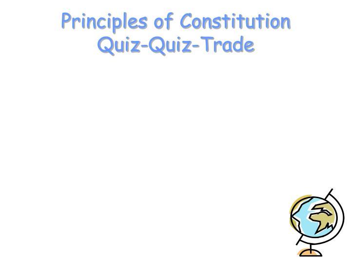 Principles of Constitution