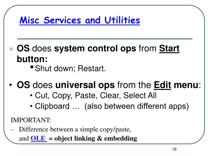 Misc Services and Utilities