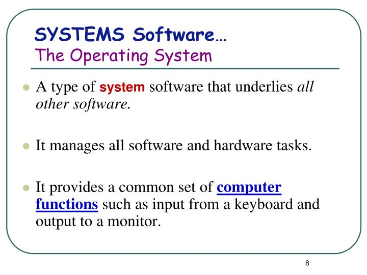 SYSTEMS Software…