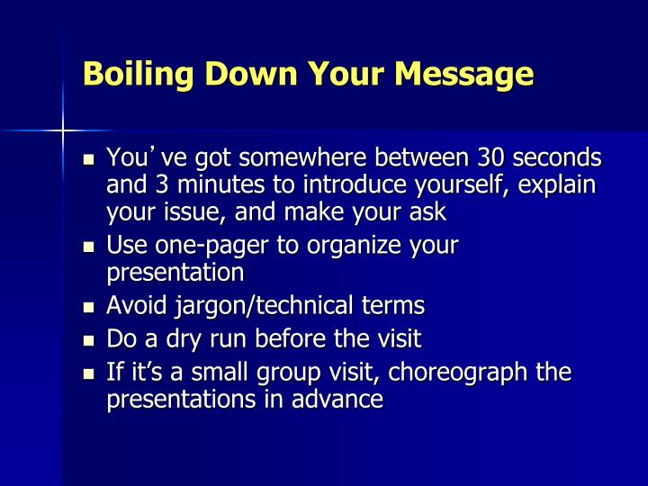 Boiling Down Your Message
