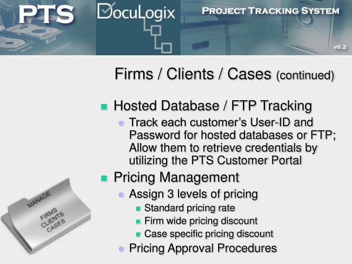 Firms / Clients / Cases