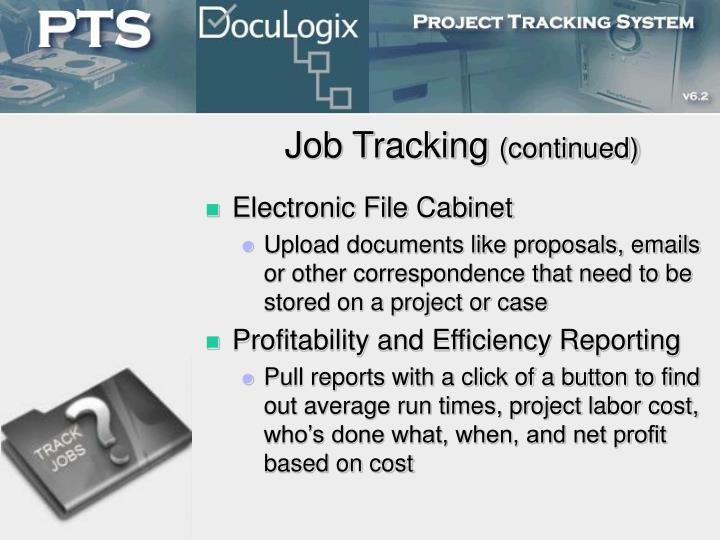 Job Tracking
