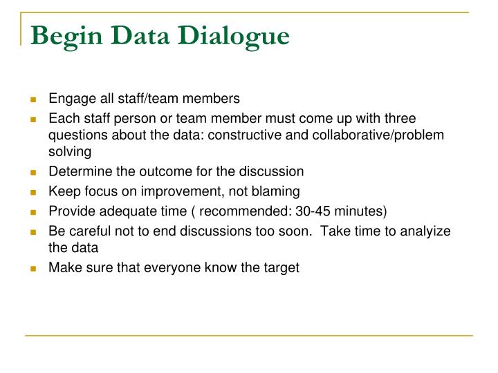 Begin Data Dialogue