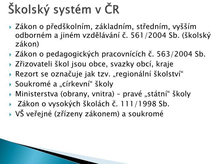 Školský systém v ČR