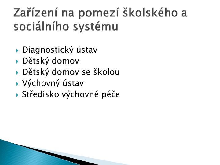 Zařízení na pomezí školského a sociálního systému