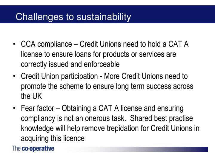 Challenges to sustainability