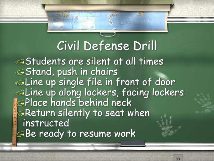 Civil Defense Drill