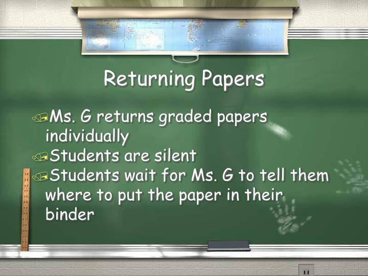 Returning Papers