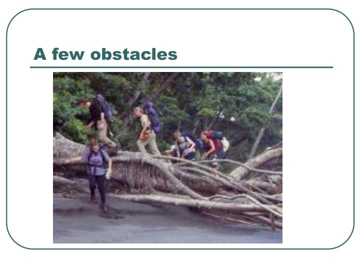 A few obstacles