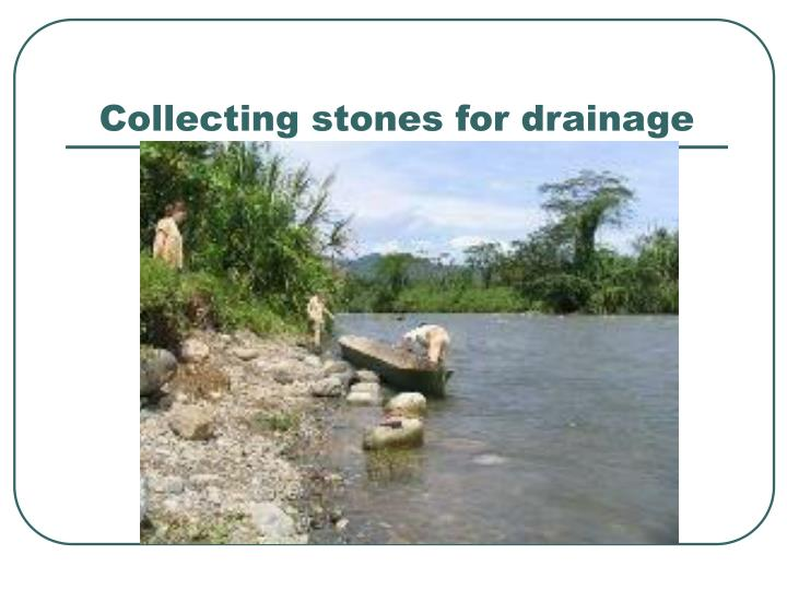 Collecting stones for drainage