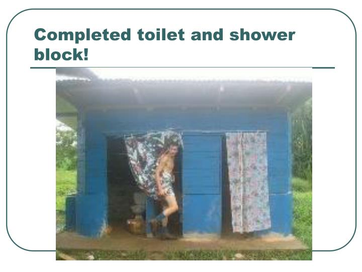 Completed toilet and shower block!