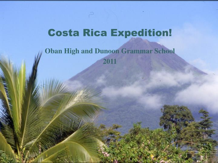 Costa rica expedition