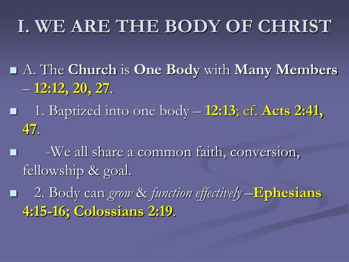 I we are the body of christ
