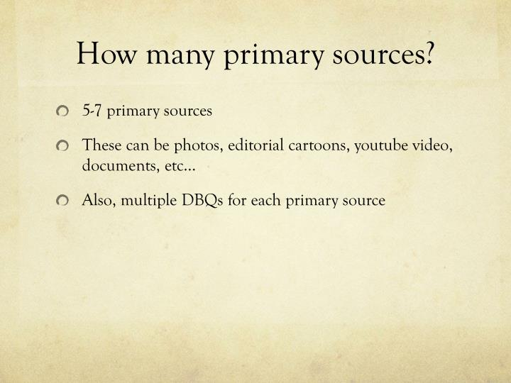 How many primary sources?