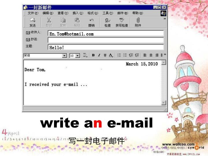 write a