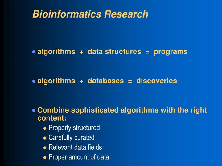 Bioinformatics Research