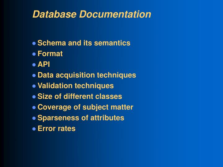Database Documentation