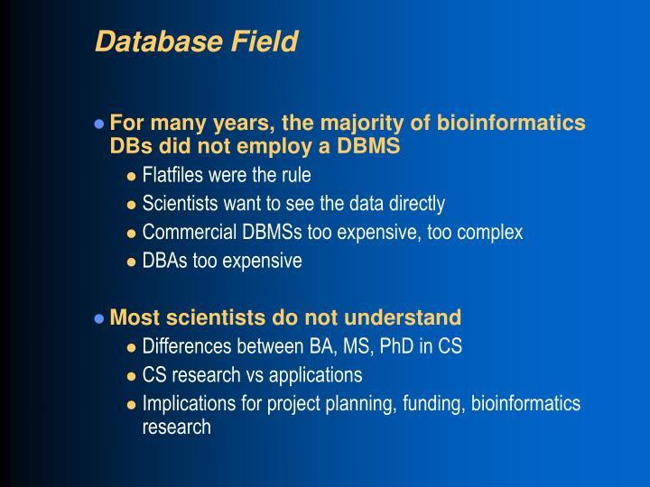 Database Field