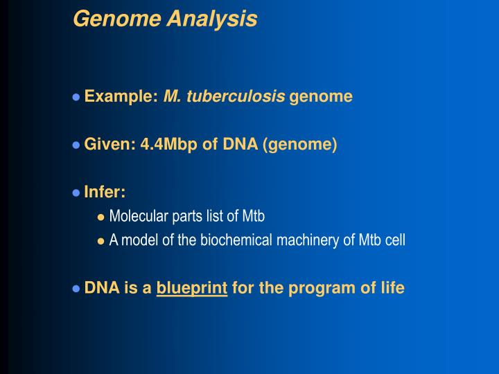 Genome Analysis