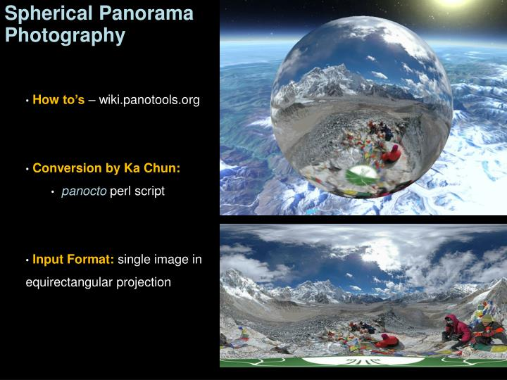Spherical Panorama Photography