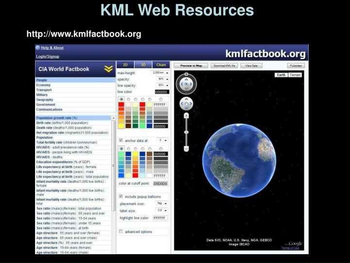 KML Web Resources